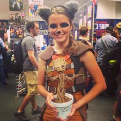 This Femme Rocket Raccoon Cosplay Comes Complete With Dancing Baby Groot