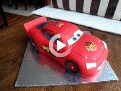 Mcqueen Car Cake, Car Cake Tutorial, Lightening Mcqueen, Futuristic Cars, Kit Cars, Futuristic Vehicles