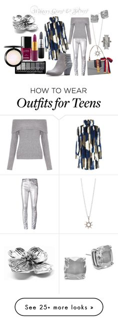 """""""Wintery Grays & Silvers"""" by pamela-heinbaugh on Polyvore featuring Chanel, Étoile Isabel Marant, New Look, Kate Spade, ADORNIA, MAC Cosmetics, Gucci and Tiffany & Co."""