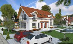 proiecte-de-case-duplex-duplex-house-plans-9 Design Case, Home Fashion, Mansions, House Styles, Home Decor, Houses, Decoration Home, Manor Houses, Room Decor