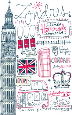Illustration & lettering  Londres - London