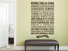 Adesivi Murali Regolle della Casa