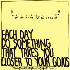 Things We Forget: 1042: Each day do something that takes you closer to your goals.