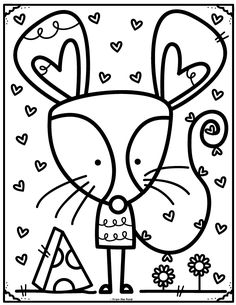 Coloring Club Library — From the Pond Art Drawings For Kids, Drawing For Kids, Cute Drawings, Art For Kids, Colouring Pages, Coloring Sheets, Adult Coloring, Coloring Books, Kindergarten Coloring Pages