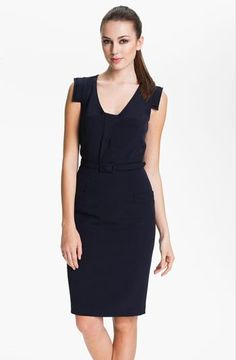 Professionelle: Belted Tab Sheath Dress