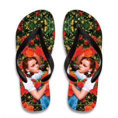 The Wizard of Oz Dorothy in Poppies Flip Flops