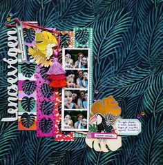 I just love palm leaves und using up my trash on a layout. Because those stripes with the cut out palm leaves werde so beautiful,… Scrapbook Pages, Scrapbook Layouts, Scrapbooking, Just Love, Palm, Stripes, Leaves, Art Journaling, Blog