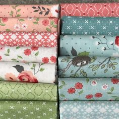 Nest - Fabric Bundle by Lella Boutique from Moda by timelessquilts on Etsy