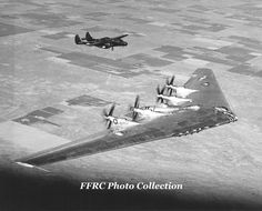 XB-35 42-13603 with chase aircraft P-61C 43-8322
