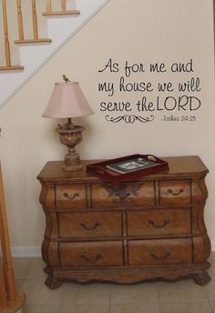 As for me an my house we will serve the Lord -faith-Vinyl Lettering wall words graphics Home decor itswritteninvinyl.