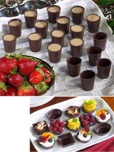 Belgian Chocolate Cups