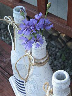 ekologiczne wazony z butelek DIY letnia dekoracja Eco Manufaktura