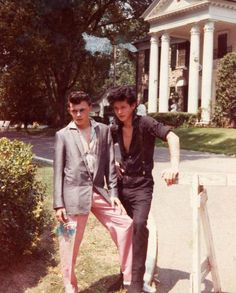 Levi Dexter and Smutty Smith of the Rockats - at Graceland I think.