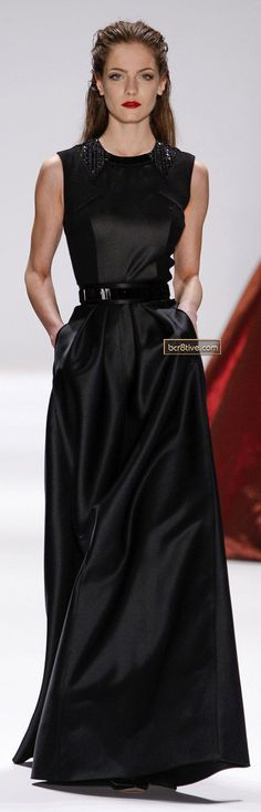 Make a flaunt statement with dress and a fabulous cocktail ring! Carmen Marc Valvo FW 2013-14 NYFW
