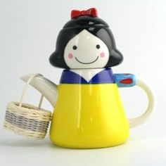 Snow white tea set.  This is just adorable.