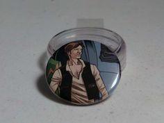 "Comic Book 1.5"" Button// Star Wars// Han Solo, $1.00"