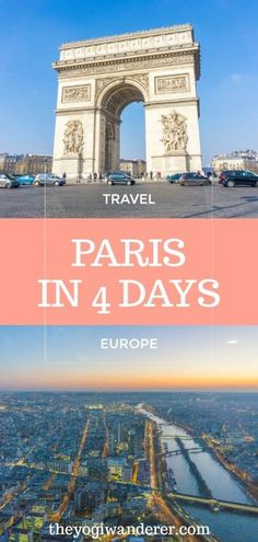 Paris 4 day itinerary for first-timers The ultimate Paris 4 day travel itinerary for your first-time visit. The best things to do in Paris, France, including Eiffel Tower, Louvre, Montmartr. Paris Travel Guide, Europe Travel Tips, European Travel, Travel Guides, Travel Hacks, Euro Travel, Travel Packing, Travel Backpack, Travel Usa