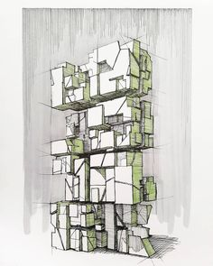 experimenting with science fiction structures Cyberpunk City, 3d Shapes, Find Picture, Geometry, Science Fiction, Architecture Sketches, Design Inspiration, Abstract, Drawings