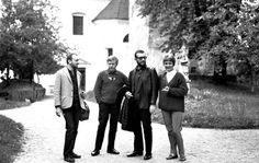 Bled Festiwal Jazzowy, 1964, Jugosławia (dzis Słowenia). Na zdjęciu: Tomasz Stanko , Krzysztof Komeda , Andrzej Dąbrowski i Zofia Komedowa fot. Andrzej Dąbrowski /FOTONOVA / East News