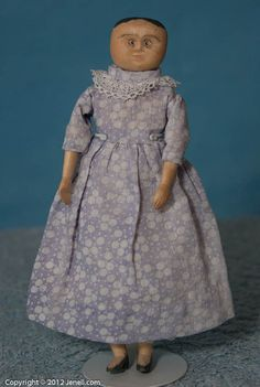 Early-Primitive-Folk-Art-Dollhouse-Hitty-Size-Poppet-Doll-Kentucky
