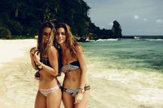 Alejandra & Alana Blanchard in My Bikini. Photo by: @davidmandelbergstudio