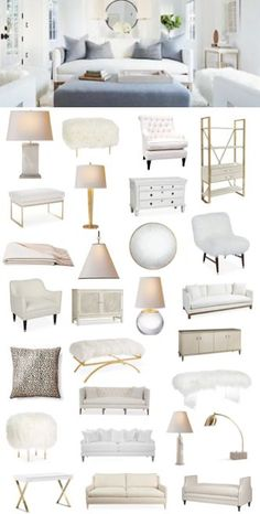 The white living room sale