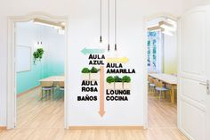 Light and refreshing office wayfinding graphics