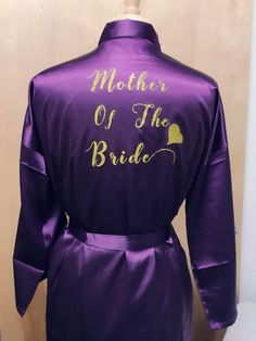 Etsy PERSONALIZED Back/Front Robe Bridal Shower, Bride To Be, Bachelorette, Bridesmaid, Kimono gown Si