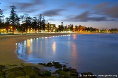 Manly Beach at Dusk, Manly, Sydney, NSW, Australia.