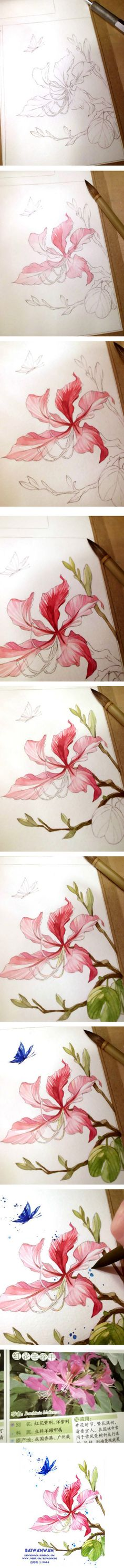 20 Delicate Colorful Watercolor Flower Painting Tutorials In Images-HOMESTHETICS (9)