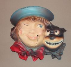 Vintage Buster Brown Advertising String Holder (Art Wiehl)