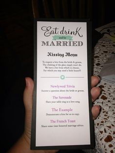 Kissing Menu by PicturesbyAlyssa on Etsy, $1.00