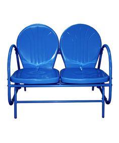 Look at this #zulilyfind! Blue Two-Seat Tulip Glider by LB International, Inc. #zulilyfinds