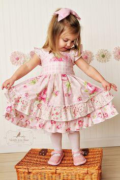 Beautiful Vintage Inspired Pink Easter Dress by IsabellaAndGrace, $48.00