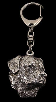 Rottweiler dog keyring keychain limited by ArtDogshopcenter