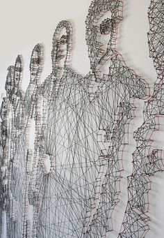 Pamela Campagna and Thomas Scheiderbauer's thread and nail portraits