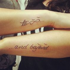 Best Friend Infinity And Beyond Tattoos Best Friend TattoosBest Friend Infinity And Beyond Tattoos