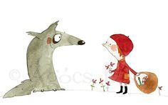 Little Red Riding Hood  Limited Edition Print by artractions, $28.00