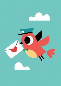 Tiago Americo ansichtkaart vogel