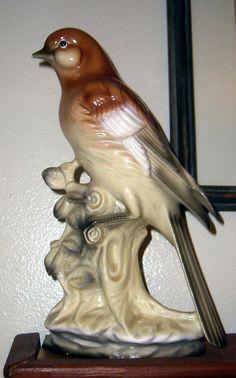 Vintage Brown Bird Antique Figurine Brown Bird