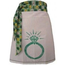 ArtGoodies Organic Block Print Ring Apron  - MADE IN THE USA - Available at www.cooltobuyamerican.com