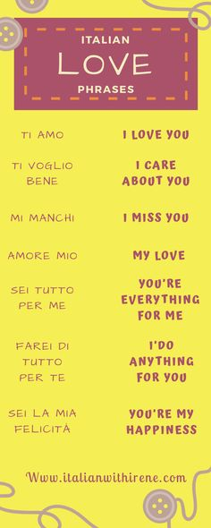 English In Italian: 17 Best Italian Love Phrases Images