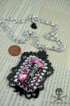 CANDY CRYPT Pink and Black Decoden by runningwithscissorss
