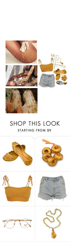 """""""apollo"""" by avilaclare ❤ liked on Polyvore featuring Made By Dawn, Levi's, Persol, Ali NY and Topshop"""