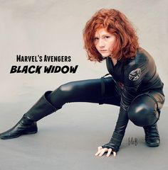 Black Widow Costume made with Jalie pattern 3135
