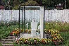 【世界よ、これが日本だ。】千葉の田舎にある『世界一広い公衆トイレ』がまるで天国!花畑のなかで用を足す究極の体験が可能