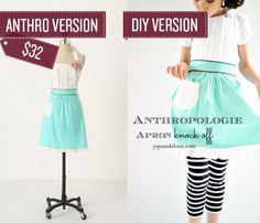 Sew a ruffled apron. ANTHRO HACK