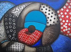 """Zachte kussens"" (""Soft pillows""), acryl on canvas, by Marieke Jongeneln-Blokland."