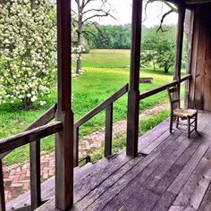 The beautiful back porch view of Mount Locust Inn, one of the oldest structures in Mississippi. Located at milepost 15.5 on the Natchez Trace Parkway, this historic plantation is a must-visit attraction.