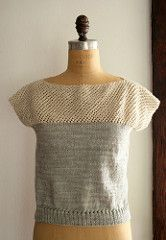Ravelry: Cap Sleeve Lattice Top pattern by Purl Soho